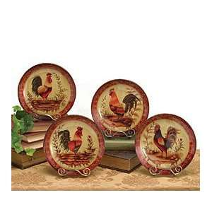 ... Rooster Plates For French Country Rooster Kitchen Decor Kitchen ...