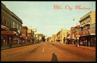 Miles City Montana 1950s Street Scene Photo Postcard