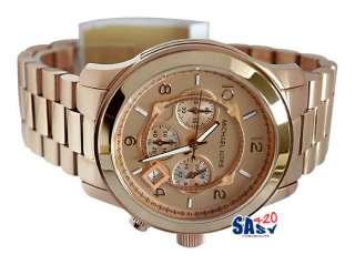 Michael Kors MK8096 Chrono Rose Gold Color Men Watch