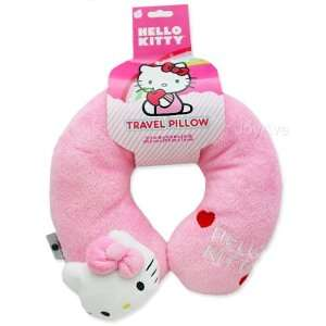 Hello Kitty Neck Rest Pillow Travel Cushion  Pink with Hello Kitty