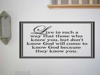 Live in Such a Way That Those Wall Quote Vinyl Decal Saying Lettering