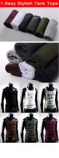 Men Slim Fit Sexy Stylish Tank Tops Tee T shirts CollectionFree