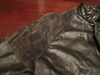 Vtg Ambition Mens Suede Leather Motorcycle Biker Mod Hippie Jacket
