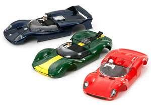 TAMIYA SLOT CAR BODYS Reprodaction Ferrari Loutus Cobra