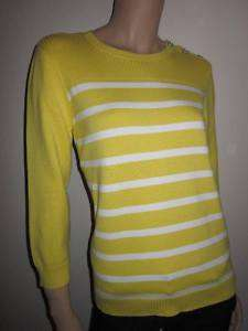 Polo Ralph Lauren Yellow Striped Sweater Jumper NWT L