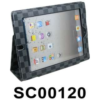 iPad 2 Magnetic Smart Cover Leather Case Rotating Stand   Dark Purple