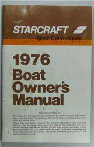 Original 1976 Model Year Starcraft Boat Owners Manual/Booklet Bass
