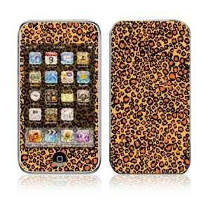 Apple iPod Touch (1st Gen) Vinyl Decal Sticker Skin   Orange Leopard