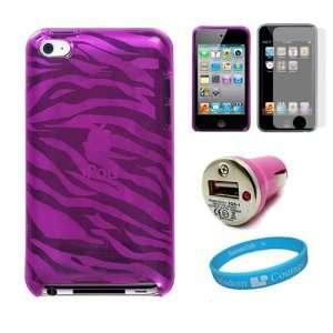 Premium Pink Zebra Design TPU Protective Skin Cover for