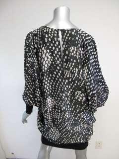 Stella McCartney Black/White Printed Long Sleeve Knit Bottom Dress 44