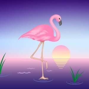 Pink Flamingo Sticker Arts, Crafts & Sewing