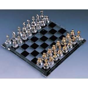 Silver plated & Gold plated Crystal Chess Set Toys & Games