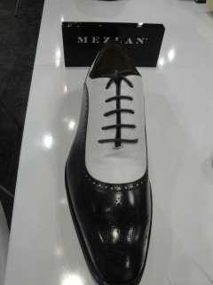 MEZLAN DRESS SHOE BLACK WHITE SPECTATOR TIE UP