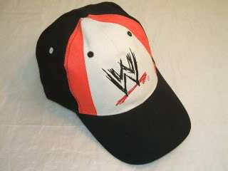 WWE Logo Red/White Baseball Cap Hat NEW