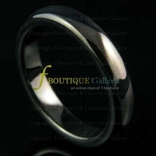4MM TUNGSTEN CARBIDE IP BLACK WEDDING BAND UNISEX RING