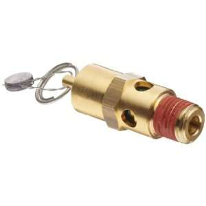 Devices Brass ASME Safety Valve, 200 psi Set Pressure, 1/4 Male NPT