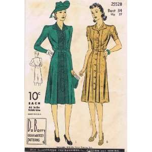 Du Barry 2552B Vintage Sewing Pattern Womens Front Panel Dress
