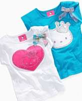 NEW Hello Kitty Kids Shirt, Little Girls Princess Applique Tee