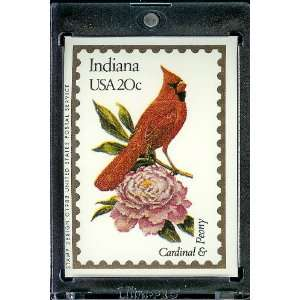 1991 Bon Air Indiana Stamp Replica Trading Card #14
