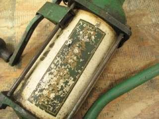 Iron Gilsen Quaker State Oil Pump Hand Spout Green Erie PA #1