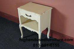 Vintage White French Provincial Solid Wood Nightstands