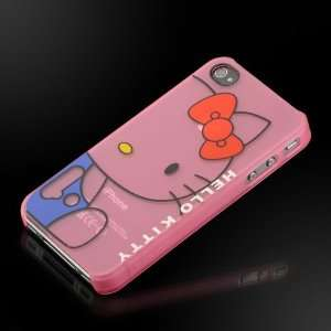 Kitty Transparent Pink Images hard case cover for Apple iPhone 4 4G
