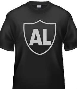 AL DAVIS OAKLAND RAIDERS TRIBUTE SHIRT BLACK BRAND NEW SILVER AND
