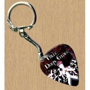 Three Days Grace Premium Guitar Pick Keyring  Musical