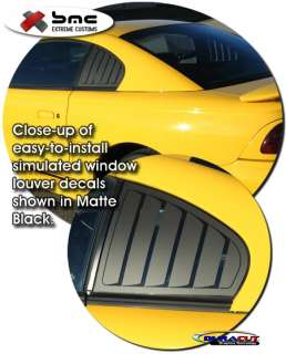 window louver decal set for 1994 1998 ford mustang coupe convertible