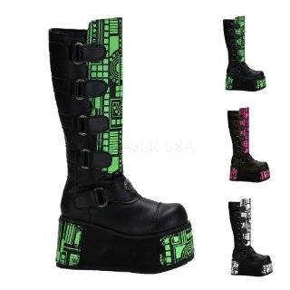 MENS SIZING Calf Boots Lace Up Gothic Platform Boots Hardware Shoes