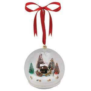 Mr. Christmas Santa Glass Scene Ornament Home & Kitchen