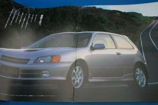 japanese car brochure make toyota starlet glanza grade glanza v glanza