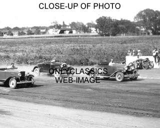 1930s EARLY STOCK CAR RACE PHOTO DENVER COLORADO NASCAR
