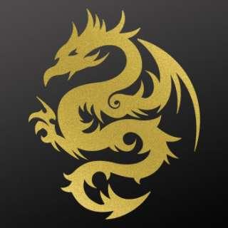 Tribal tattoo design Decal Sticker Dragon Art WRSXX