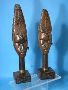 AFRICAN ART HAND CARVED NKISI FIGURE TRIBAL ANTIQUE !