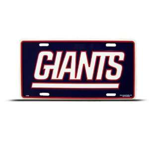 York Giants Metal Nfl Sport License Plate Wall Sign Tag Automotive