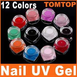 12 Colors UV Gel Acrylic Nail Art Glitter Builder Set H4634