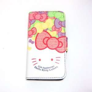 hello kitty smile flip leather case for iphone 4 4G Cell
