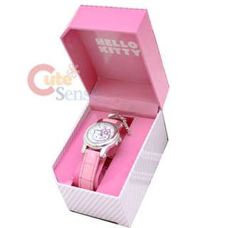 Sanrio Hello Kitty Pink Wrist Watch w/Pendent Licensed Stainless