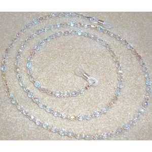 Aurora Borealis Crystal Beads Eyeglass Holder Chain