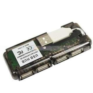 NEW 4 Port Mini USB 2.0 HUB High Speed 480 Mbps PC Slim