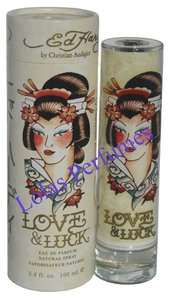 Ed Hardy LOVE AND LUCK Perfume WOMEN EDP 3.4 oz NIB
