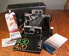 Vintage Polaroid 250 Automatic Land Camera Folding w/ Flash Bulbs Film