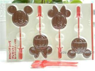 Disney Mickey & Minnie Chocolate Jelly Candy Stick Mold