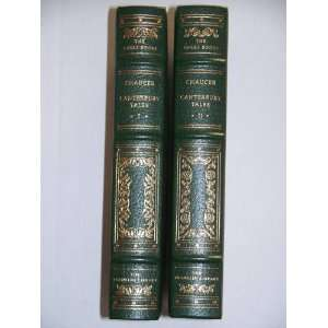 Canterbury Tales   Two Volumne Set (The Great Books of the