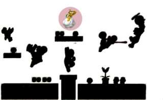 Mario Bros Enemies Removable Repositionable Decal WALL STICKER Kids
