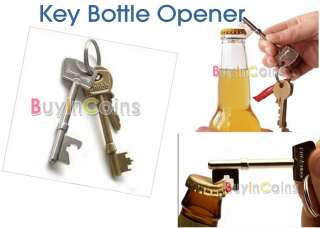 New Bottle Opener Key Ring Keyring Chain Metal Bar Tool