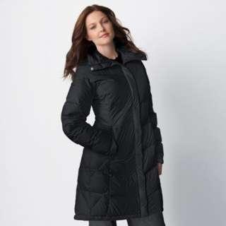 Columbia Melange Maven Women Long Down Coat Winter Jacket Parka Large