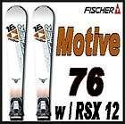 09 10 Fischer Heat 76 Skis 160cm w/Fsx 12 NEW