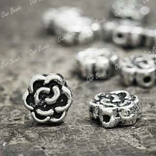 200pcs Tibetan Silver Flower Spacer Bead Findings TS906